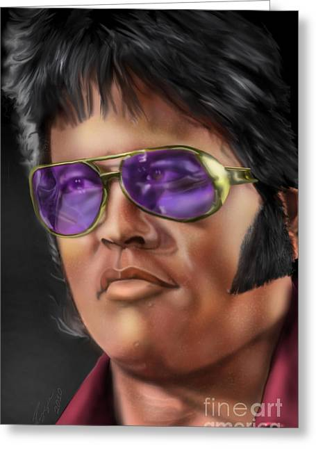 I Remember Elvis Greeting Card by Reggie Duffie