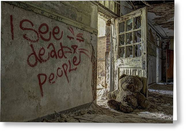 Greeting Cards - I See Dead People Greeting Card by Robert Myers