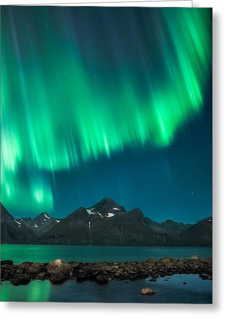 Northern Lights Greeting Cards - I see fire Greeting Card by Tor-Ivar Naess