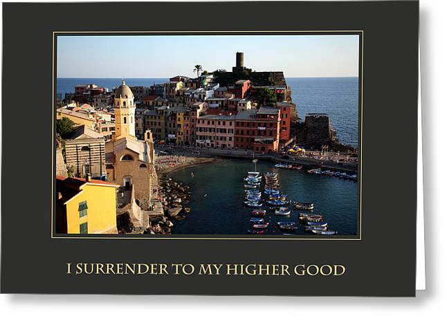 Personal-development Greeting Cards - I Surrender To My Higher Good Greeting Card by Donna Corless