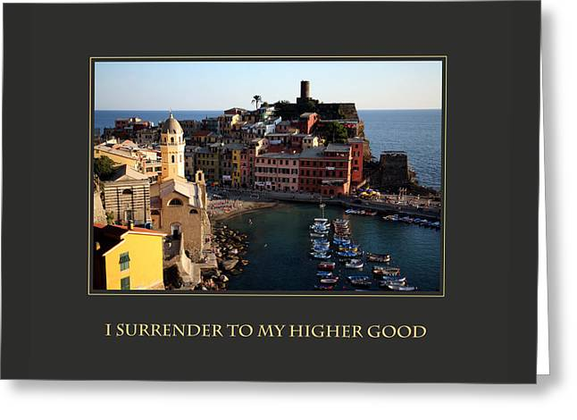 I Surrender To My Higher Good Greeting Card by Donna Corless