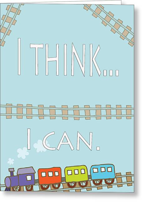 Installation Art Greeting Cards - I think I can Greeting Card by Tina M Wenger