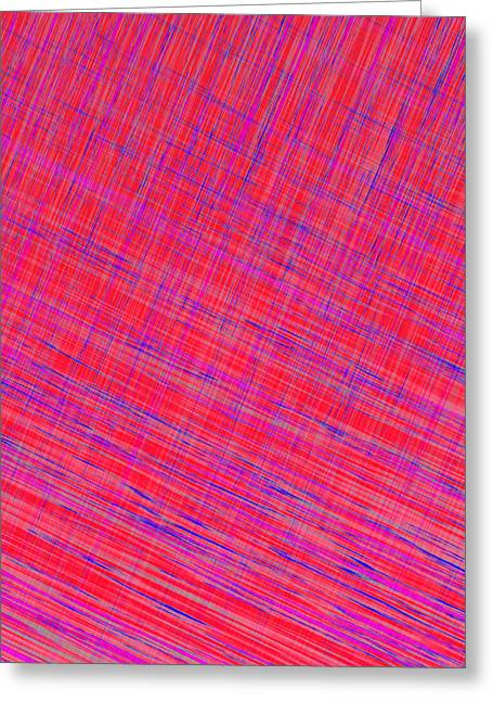 Abstract Digital Tapestries - Textiles Greeting Cards - I Thought it was Plaid Greeting Card by Suzi Freeman