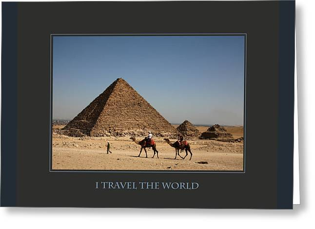 I Travel The World Cairo Greeting Card by Donna Corless