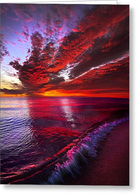 I Wake As A Child To See The World Begin Greeting Card by Phil Koch