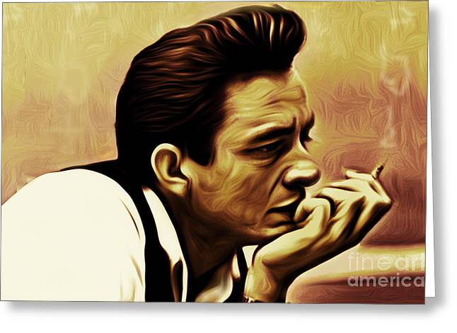 Rockabilly Digital Art Greeting Cards - I Walk the Line Greeting Card by Larry Espinoza