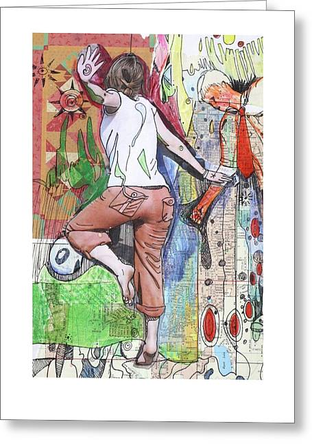 Protest Mixed Media Greeting Cards - I was caught up in the rhythm of struggle and I was moved to dance Greeting Card by Sarah Holst