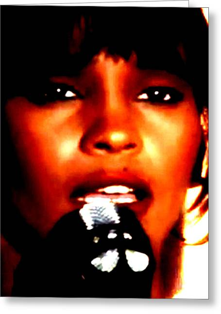 Whitney Houston Greeting Cards - I Will Always Love You Greeting Card by De Beall