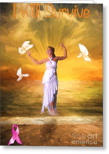 Breast Cancer Greeting Cards - I Will Survive Greeting Card by Jim  Hatch