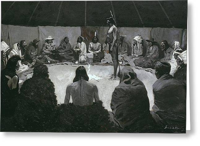 I Will Tell The White Man Greeting Card by Frederic Remington