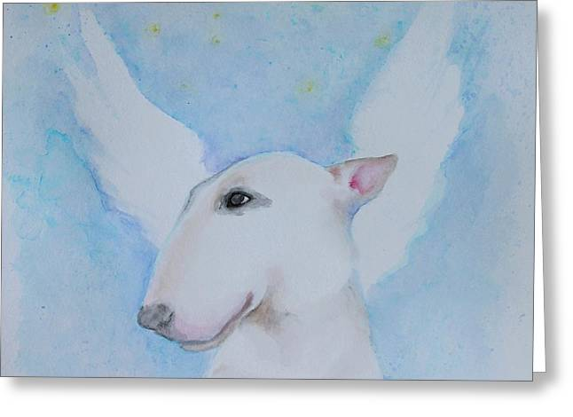 Puppies Paintings Greeting Cards - I Will Wait For You Greeting Card by Jindra Noewi