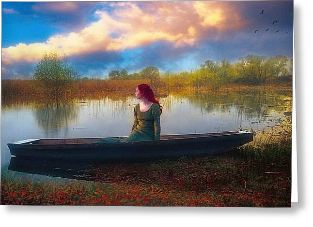 Romance Renaissance Greeting Cards - I will wait for you Greeting Card by John Rivera