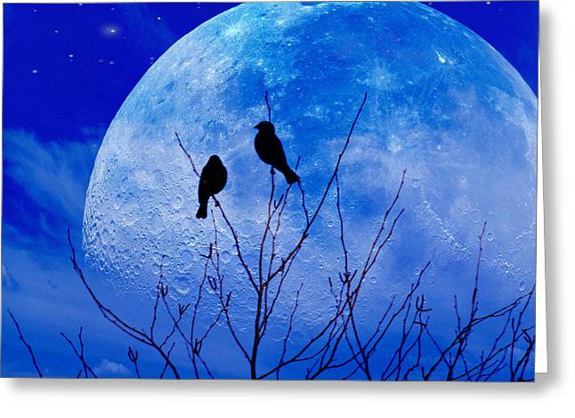 I Would Give You The Moon Greeting Card by John Rivera