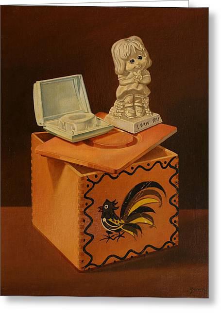 I Wuv You Greeting Card by Rosencruz  Sumera