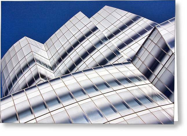 Glasses Greeting Cards - IAC Building Greeting Card by June Marie Sobrito