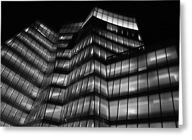 Chelsea Greeting Cards - IAC Night Greeting Card by Christopher Kirby