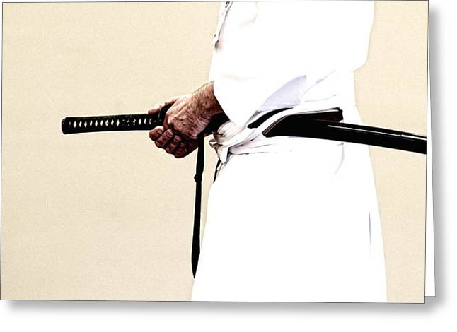 Tim Nichols Greeting Cards - Iaido _ 6 Greeting Card by Tim Nichols