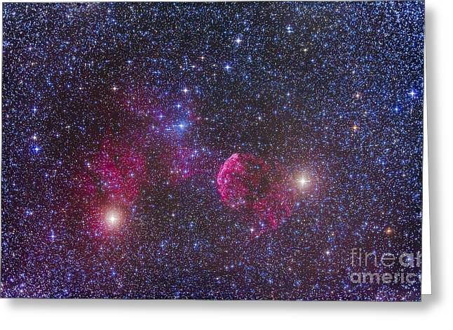 Stellar Remnant Greeting Cards - Ic 443 Supernova Remnant In Gemini Greeting Card by Alan Dyer