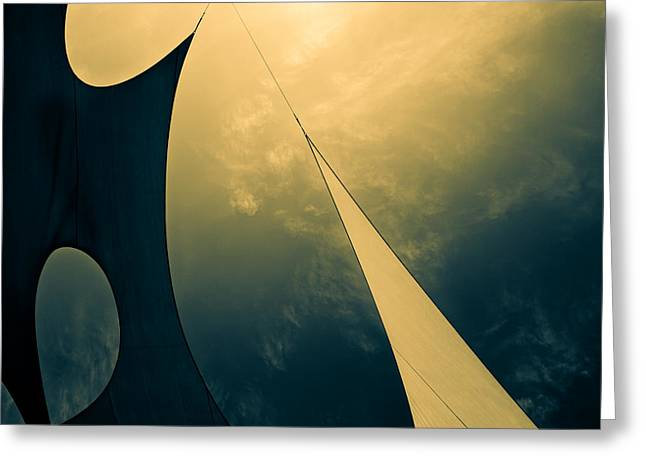 Icarus Journey to the sun Greeting Card by Bob Orsillo
