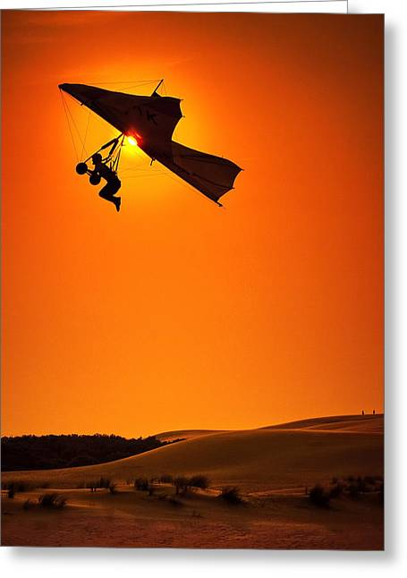 Kites Greeting Cards - Icarus Greeting Card by Neil Shapiro