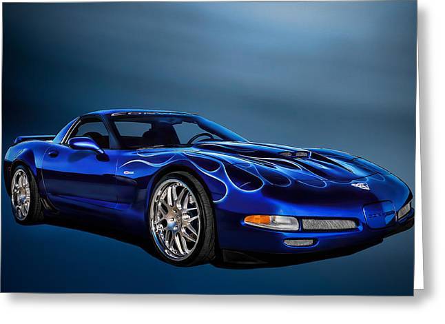 Sportscar Greeting Cards - Ice Blue C5 Greeting Card by Douglas Pittman