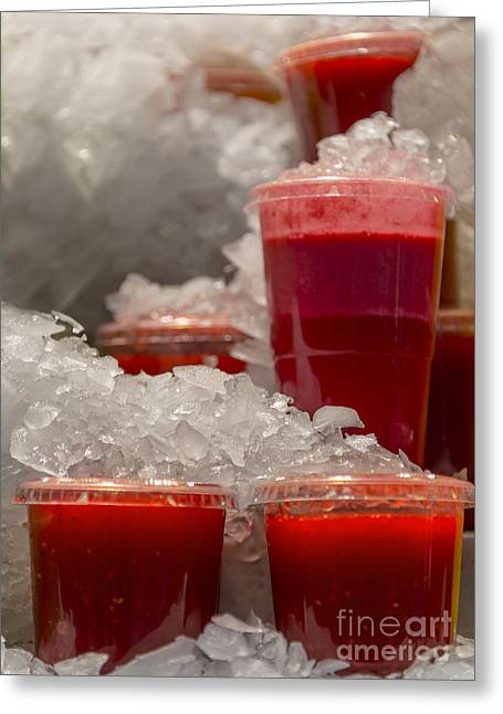 Strawberry Bunch Greeting Cards - Ice cold Greeting Card by Svetlana Sewell