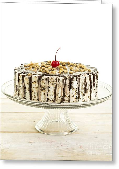 Ice Cream Cake  Greeting Card by Edward Fielding
