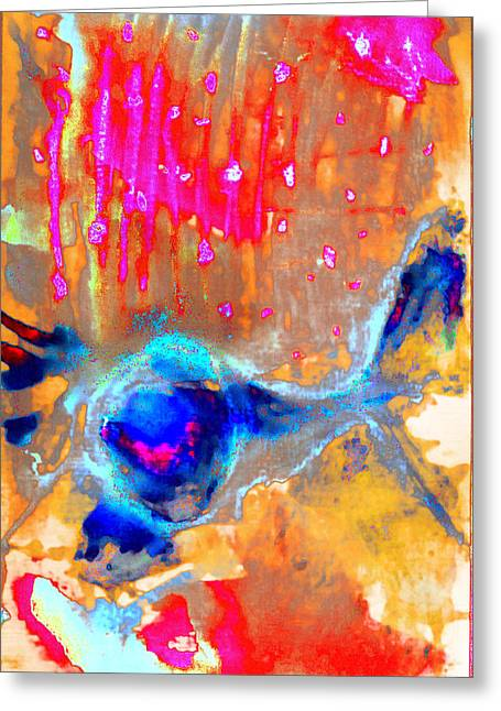 Abstract Digital Pastels Greeting Cards - Ice Cream Greeting Card by Jade Knights