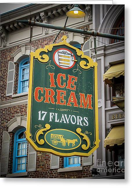 Store Fronts Greeting Cards - Ice Cream Shop Greeting Card by Perry Webster