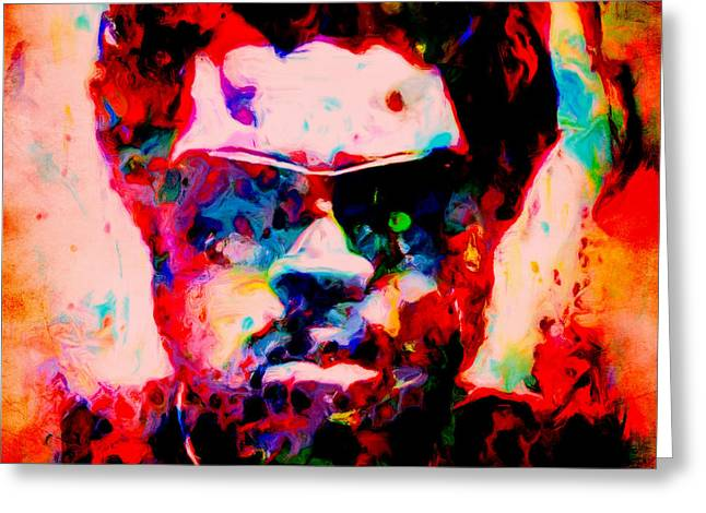 Eminem Paintings Greeting Cards - Ice Cube 03c Greeting Card by Brian Reaves