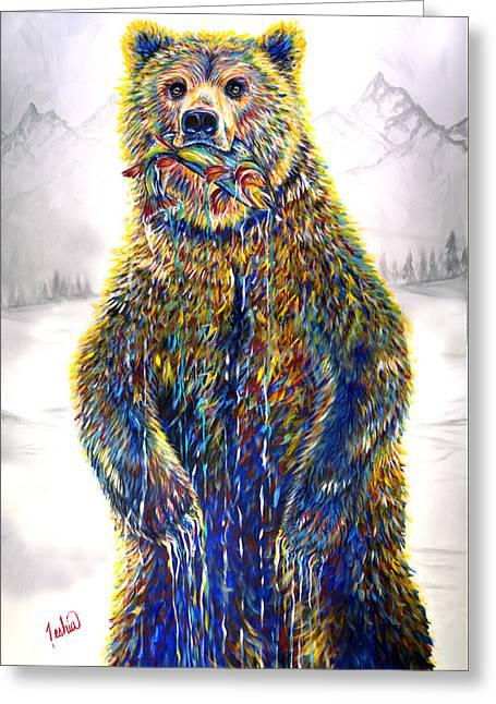 Ice Fishin Greeting Card by Teshia Art