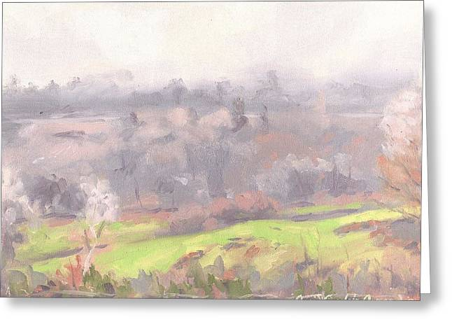Paysage A L Greeting Cards - Ice Fog - Brouillard Givrant Greeting Card by David Ormond