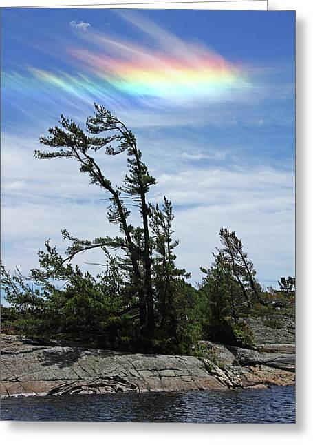 Beautiful Scenery Greeting Cards - Ice Halo Greeting Card by Debbie Oppermann