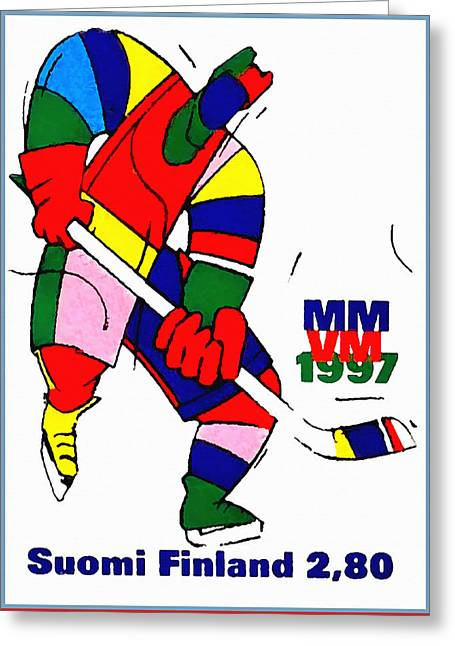 Game Greeting Cards - Ice Hockey World Championships Greeting Card by Lanjee Chee