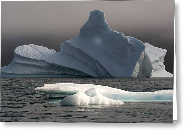 Ice Pinacle Greeting Card by Elisabeth Van Eyken