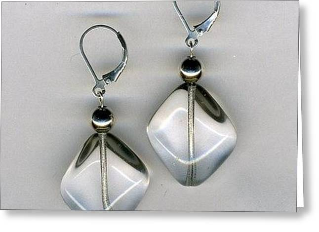 Designer Jewelry Jewelry Greeting Cards - Ice Sickle Beaded Earrings-jewelry Greeting Card by Althea Morgan-Campbell