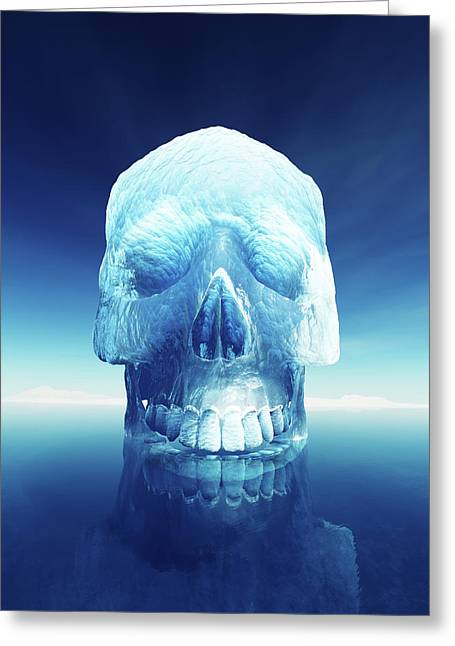 Iceberg Dangers Greeting Card by Johan Swanepoel
