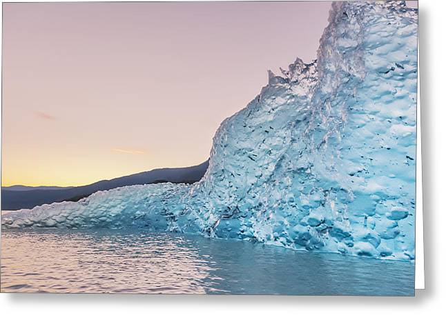 Reflections Of Sky In Water Greeting Cards - Iceberg From The Retreating Mendenhall Greeting Card by Kevin Smith