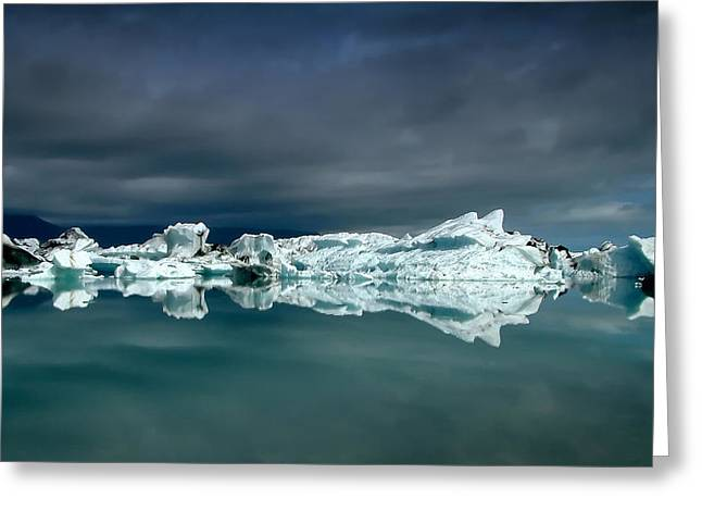 Iceberg Greeting Cards - Icebergs Greeting Card by Thorsteinn H. Ingibergsson