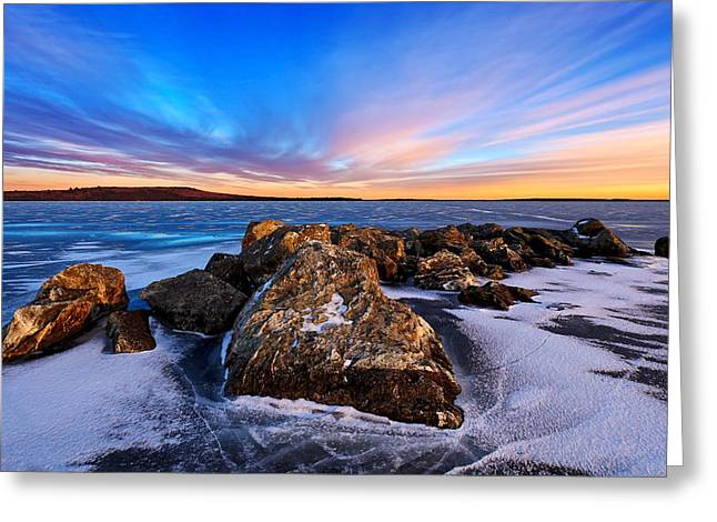 Maine Landscape Greeting Cards - Icebound 2 Greeting Card by Bill Caldwell -        ABeautifulSky Photography