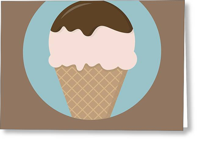 Icecream Poster Print - All You Need Is Ice Cream Greeting Card by Beautify My Walls