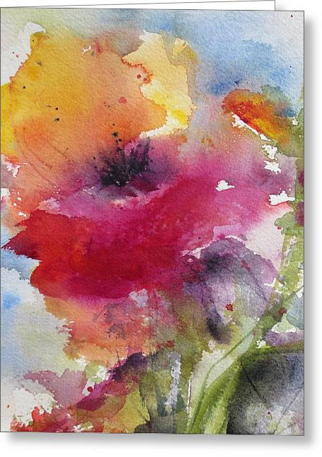 Iceland Poppy Greeting Card by Anne Duke
