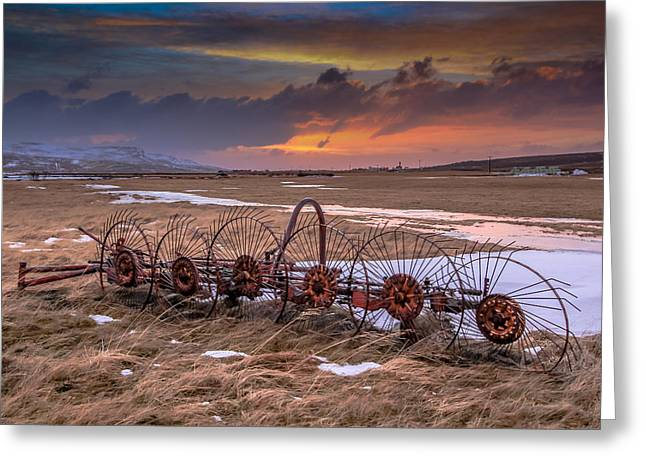 Iceland Sunset # 2 Greeting Card by Tom and Pat Cory