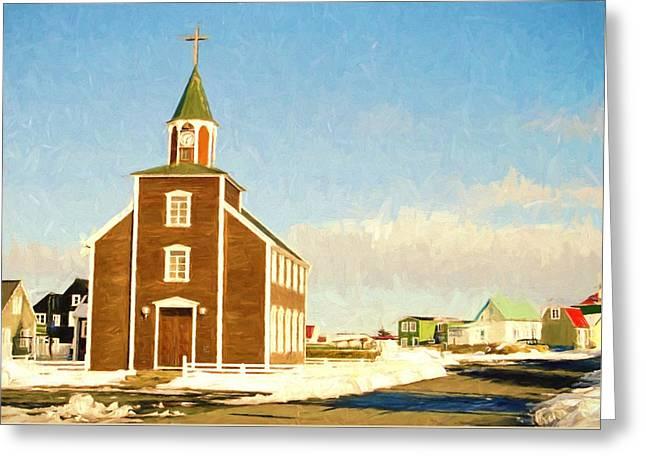 Religion Greeting Cards - Icelandic Church Greeting Card by Roy Pedersen