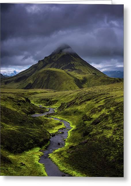 Icelandic Highlands Greeting Card by Tor-Ivar Naess