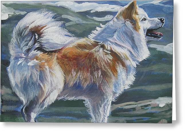 Icelandic Greeting Cards - Icelandic sheepdog Greeting Card by Lee Ann Shepard