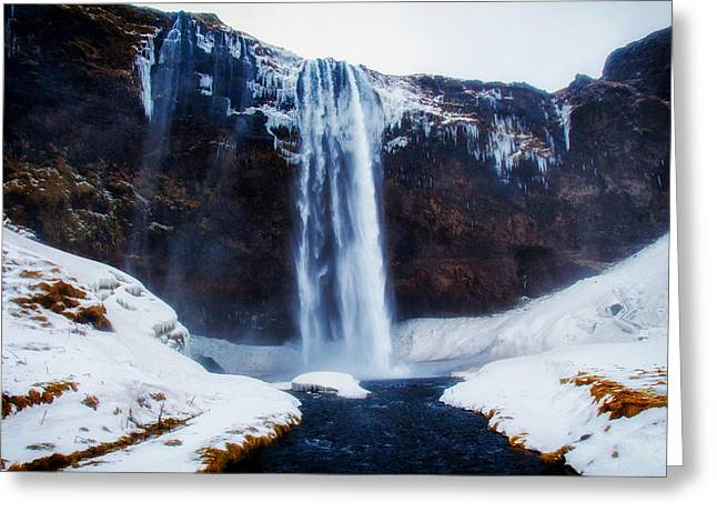 Wintry Greeting Cards - Icelands Winter Beauty Greeting Card by Blair Fraser