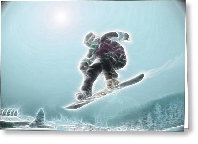 Snowboard Greeting Cards - Iceman Greeting Card by Rich Beer