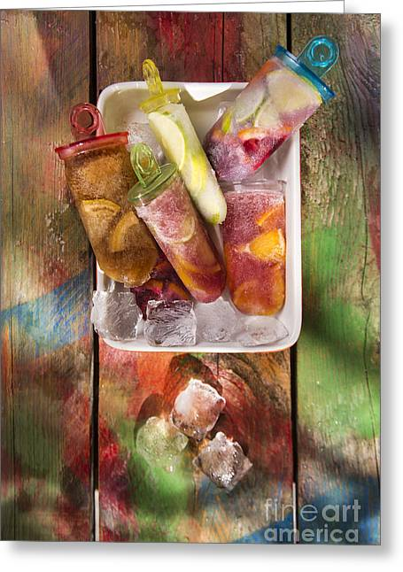 Sorbet Greeting Cards - Icicle citrus Greeting Card by Marco Guidi