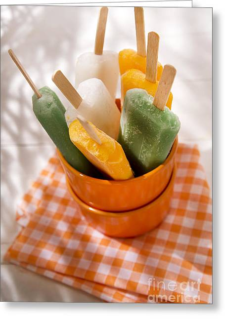 Sorbet Greeting Cards - Icicle fruit Greeting Card by Marco Guidi